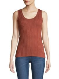 Ribbed tank top at Lord & Taylor
