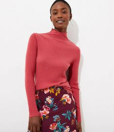 Ribbed turtleneck sweater at Loft