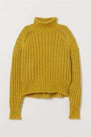 Ribbed turtleneck sweater at H&M
