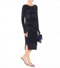 Ribbed-velvet sweater dress at Mytheresa
