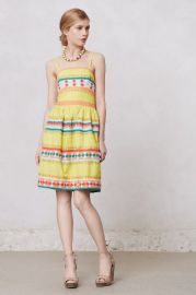 Ribboned Quiltoa Dress at Anthropologie