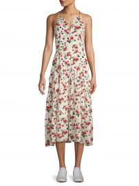 Richards Silk Floral Midi Dress at Saks Off 5th