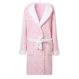 Richie House Womenand39s Plush Soft Warm Fleece Bathrobe Robe in Peach at Amazon