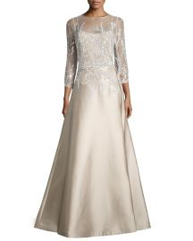 Rickie Freeman for Teri Jon Embellished Ball Gown at Neiman Marcus