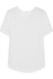 Riley polka-dot washed-silk top at The Outnet