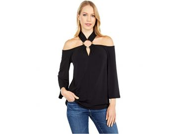 Ring Twist Neck Top by Michael Kors at Zappos