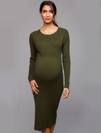 Ripe Rib Knit Bodycon Maternity Dress at A Pea In The Pod