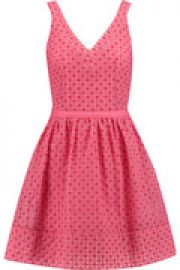 Riposte broderie anglaise cotton-blend mini dress at The Outnet