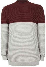 Ripple Textured Turtle Neck Sweater at Topman