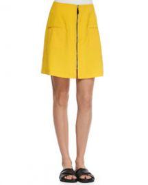 Risto Liquid Wool Front-Zip Skirt at Neiman Marcus