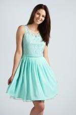 Rita Crochet Lace prom dress at Boohoo