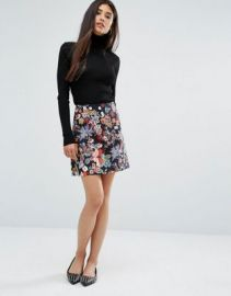 River Island Floral Print Mini Skirt at asos com at Asos