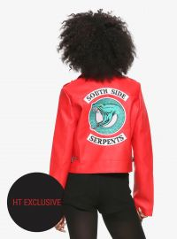 Riverdale Cheryl Soutside Serpents Leather Jacket at Hot Topic