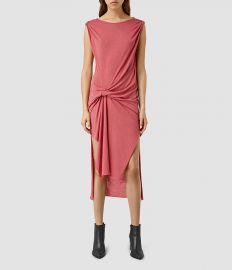 Riviera dress in sorbet pink at All Saints