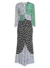 Rixo - Chelsea Dot-Print Midi Dress at Saks Fifth Avenue