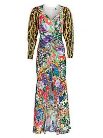 Rixo - Madonna Mixed Print Dress at Saks Fifth Avenue