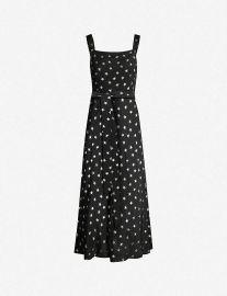 Rixo London Tara star-print silk crepe-de-chine midi dress at Selfridges