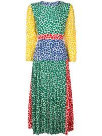 Rixo Patterned Pleat Dress - Farfetch at Farfetch