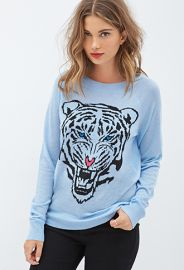 Roaring Tiger Graphic Sweater  Forever 21 - 2000120831 at Forever 21