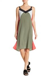 Robbi Silk Colorblock Slip Dress by Equipment at Nordstrom Rack