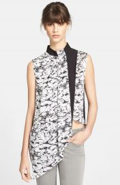 Robert Rodriguez Graphic Overlay Asymmetrical Blouse at Nordstrom