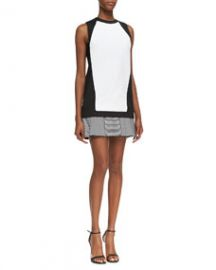 Robert Rodriguez Knit Stripe-Flounce Sheath Dress at Neiman Marcus