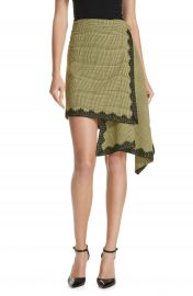 Robert Rodriguez Lace Trim Plaid Skirt at Nordstrom