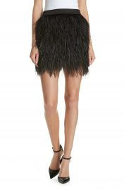 Robert Rodriguez Ostrich Feather Miniskirt   Nordstrom at Nordstrom