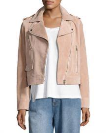 Robert Rodriguez Suede Moto Jacket  Blush at Neiman Marcus