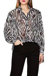 Robert Rodriguez Zebra-Print Georgette Blouse at Barneys Warehouse