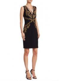 Roberto Cavalli - Beaded V-Neck Dress at Saks Fifth Avenue