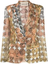 Roberto Cavalli Coin Print Blazer - Farfetch at Farfetch