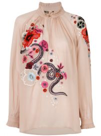Roberto Cavalli Embroidered Floral Top  1 925 - Buy Online - Mobile Friendly  Fast Delivery  Price at Farfetch