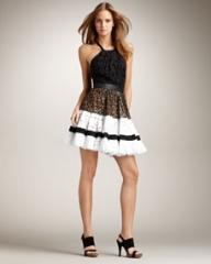 Roberto Cavalli Open-Back Tiered Dress at Neiman Marcus