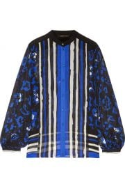 Roberto Cavalli Printed silk crepe de chine blouse at The Outnet