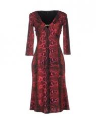 Roberto Cavalli Snake Print Dress at Yoox