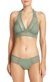 Robin Piccone \'Sophia\' Crochet Halter Bikini Top at Nordstrom