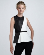 Robins black and white leather top at Neiman Marcus at Neiman Marcus