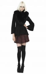 Robin's black fur collar jacket at Alice + Olivia