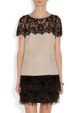 Robins black lace contrast top on HIMYM at Net A Porter