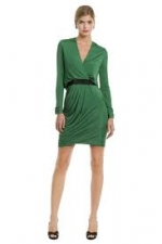 Robins green wrap dress at Outnet