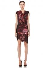 Robins red Helmut Lang dress at Forward by Elyse Walker