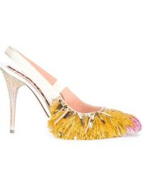 Rochas Fringed Sling Back Pumps  - Laboratoria at Farfetch