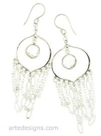 Rocker Chick Hoop Earrings at Arte Designs