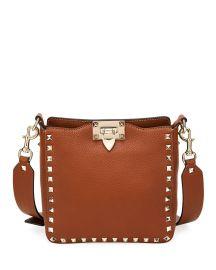 Rockstud Small Vitello Leather Hobo Bag at Bergdorf Goodman