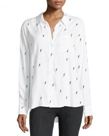 Rocsi Button-Front Single-Pocket Shirt at Neiman Marcus