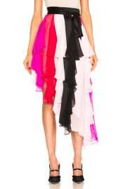 Rodarte Asymetrical Silk Chiffon Skirt in Multi   FWRD at Forward