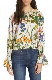 Rodebjer Adania Floral Print Silk Blouse   Nordstrom at Nordstrom