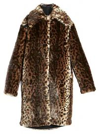 Rokh - Leopard-Print Faux Fur Coat at Saks Fifth Avenue