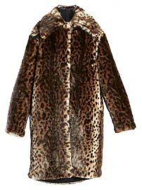 Rokh - Leopard-Print Faux Fur Coat at Saks Fifth Avenue